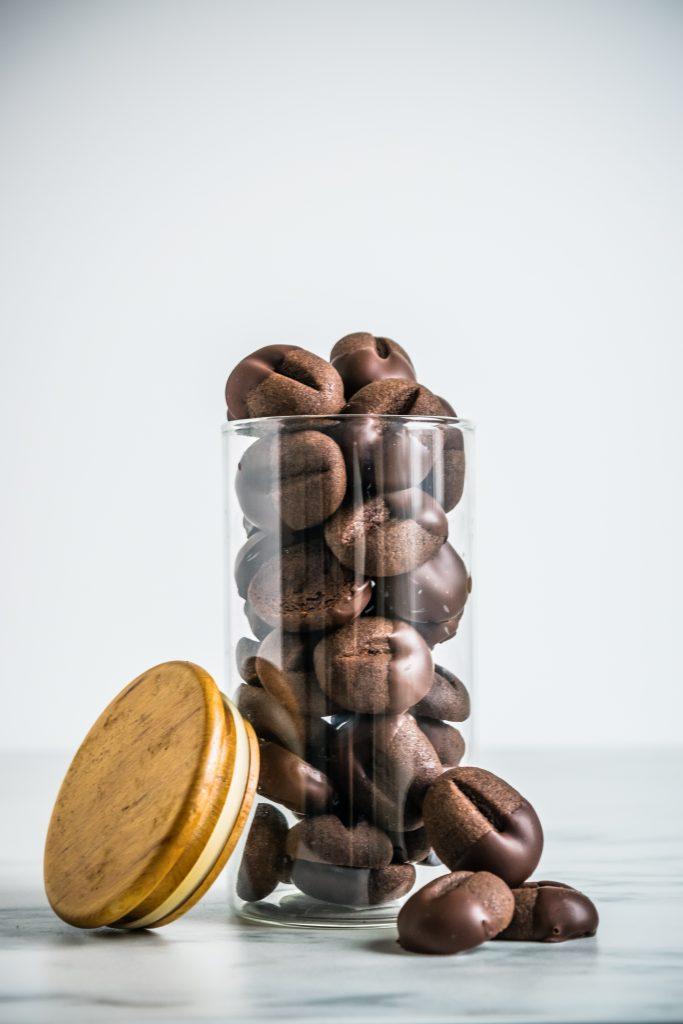 """Sausainiai """"Kavos Pupelės"""" su Šokoladu"""